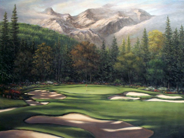 'Winser Mountain' -- Golf (painting for Canadian client)
