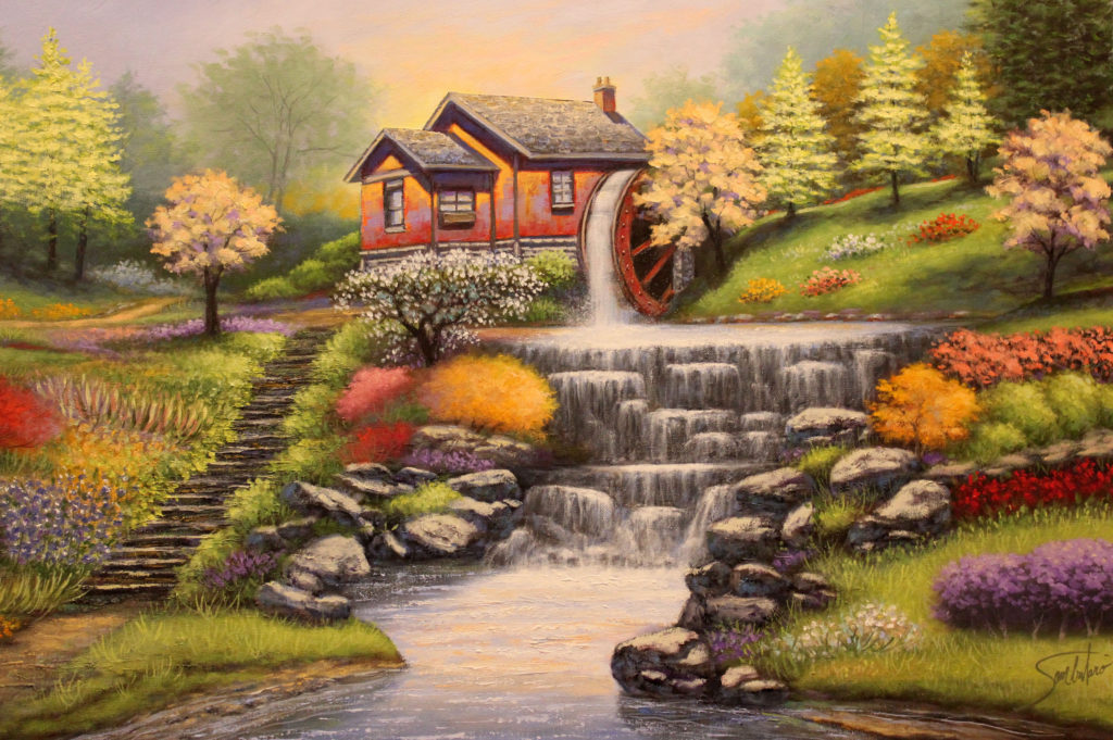 "WATER MILL AT SILVER SPRINGS - 24""x36"" (Code WM60)"