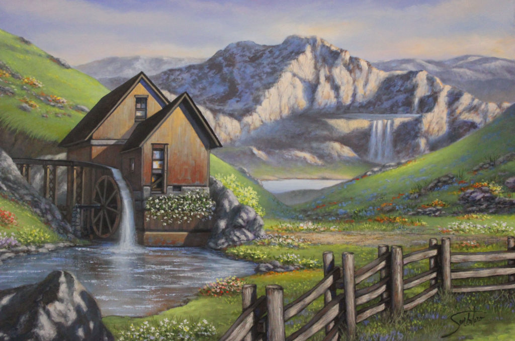 "WATER MILL AT SUMMER RIDGE - 24""x36"" (Use Code WM80)"