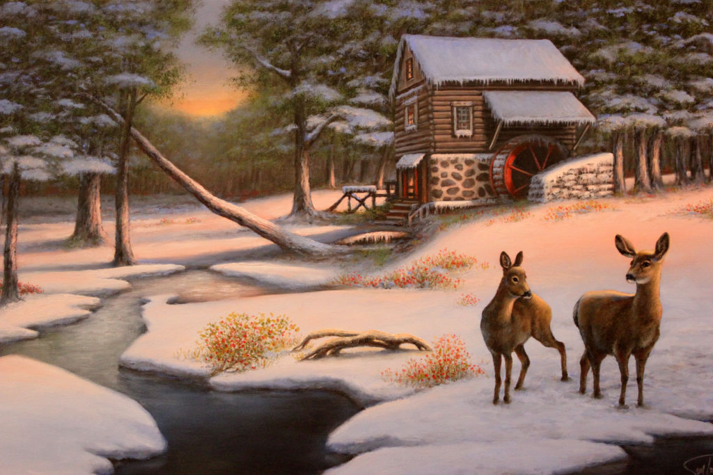 "WATER MILL AT WINTER GLEN - 24""x36"" (Use Code WM50)"