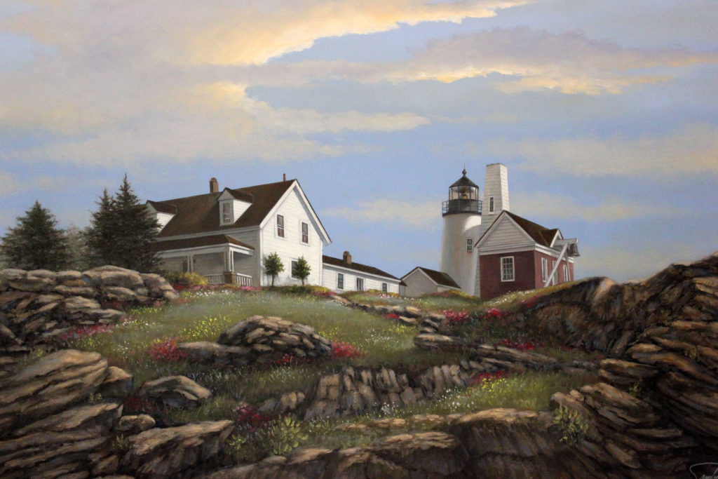 "SKIES OVER PEMAQUID POINT - 30""x40"" (Use Code PP1001)"
