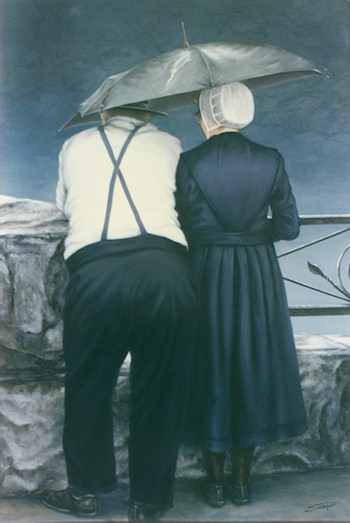 Amish Couple - Spinner Printing Co - Dallas