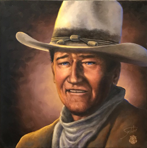 "Remembering JOHN WAYNE 24""x24"""